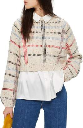 Topshop Check Pattern Sweater