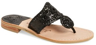 Women's Jack Rogers Cleo Sparkle Whipstitched Sandal $138.95 thestylecure.com