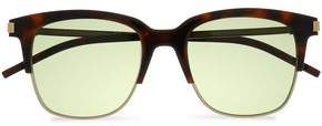 Marc Jacobs D-Frame Acetate And Gold-Tone Sunglasses
