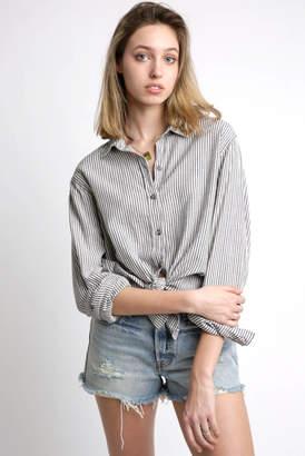 Sam&lavi Sam & Lavi Linen Stripe Button Down Shirt