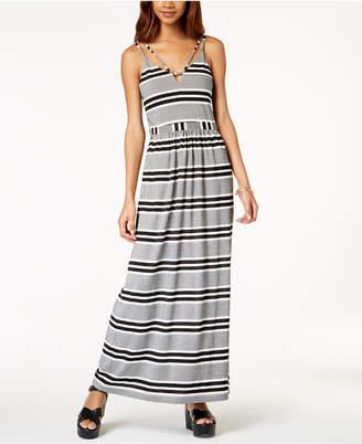 Emerald Sundae Juniors' Striped Maxi Dress