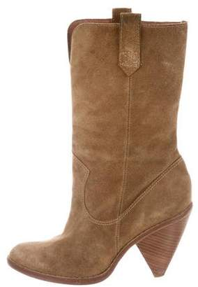 KORS Suede Mid-Calf Boots