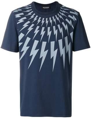 Neil Barrett lightning print T-shirt