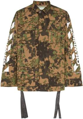 Off-White camouflage print field jacket