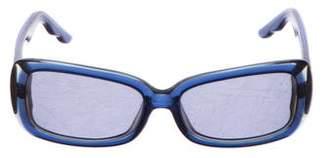 Oscar de la Renta Engraved Square Sunglasses