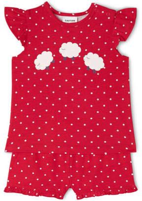 Sprout NEW Girls Essential Pajama Set Raspberry