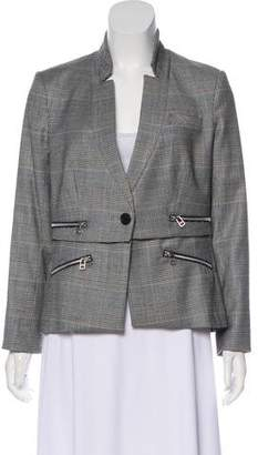 Veronica Beard Virgin Wool Houndstooth Blazer