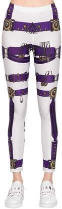 Versus Belt Heritage Print Lycra Leggings