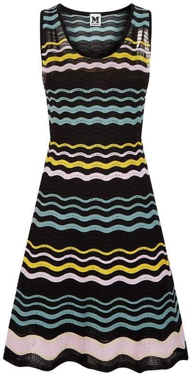 Wave Knit Sleeveless Dress