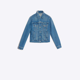 Balenciaga Classic denim jacket with embroidered logo at back