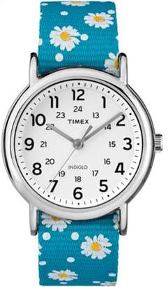 Timex Women's Weekender Blue Floral Reversible Strap Watch
