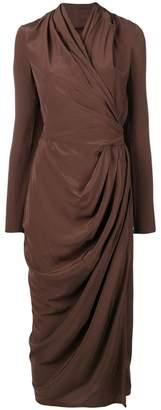 Rick Owens wrap midi dress
