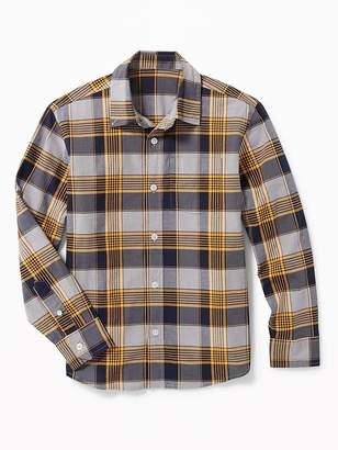 Old Navy Plaid Built-In Flex Classic Shirt for Boys