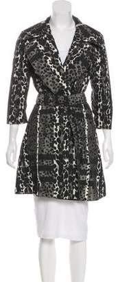 Burberry Printed Knee-Length Trench Coat