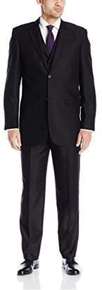 Stacy Adams Men's Big and Tall Pett Vested Suit