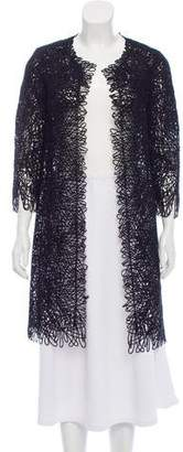 Oscar de la Renta 2012 Silk & Virgin Wool-Blend Sequin Embellished Jacket