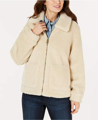 Style&Co. Style & Co Faux-Shearling Zip-Front Teddy Jacket