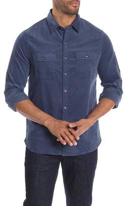 Michael Bastian Solid Long Sleeve Stretch Fit Utility Shirt