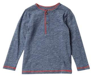 Joe Fresh Long Sleeve Henley Tee (Toddler & Little Boys)