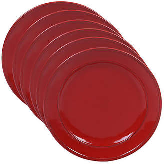 One Kings Lane Set of 6 Misha Dinner Plates - Red
