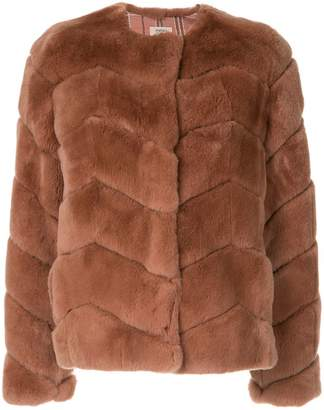 Yves Salomon Meteo Rex chevron jacket