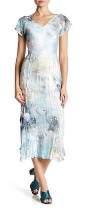 Komarov Flutter Sleeve V-Neck Dress