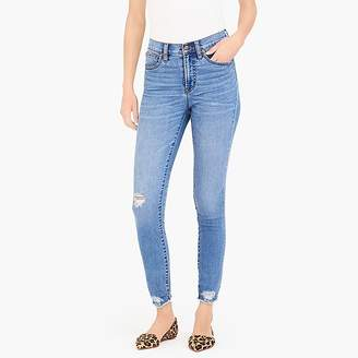 "J.Crew Mercantile 9"" high-rise skinny jean with cut-off hem"