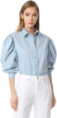 Marques Almeida Puff Sleeve Shirt $380 thestylecure.com