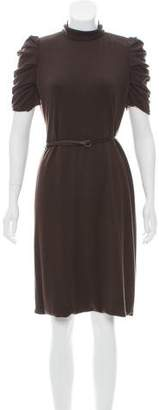 Akris Cashmere Belted Dress