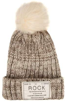 AERUSI Women's Pompom Rock Knit Autumn Winter Beanie [One Size Fits Most]