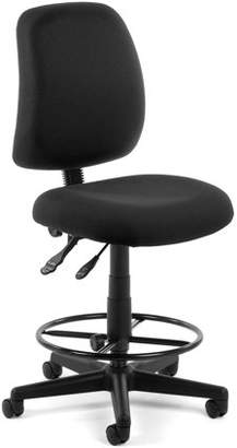 OFM Posture Series Model 118-2-DK Armless Swivel Task Chair with Drafting Kit, Fabric, Mid-Back, Black