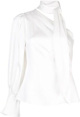 Peter Pilotto draped one-shoulder blouse