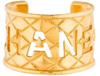 ChanelChanel Matelasse Cutout Logo Cuff