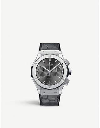 Hublot Classic fusion 521.NX.7071.LR titanium and alligator leather watch
