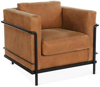 Charleston Club Chair - Whiskey Leather - Miles Talbott