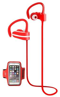 Jarv Red MACH 1 Sport Wireless In-Ear Bluetooth Headphones with Universal Sports Armband