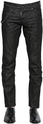 DSQUARED2 18cm Slim Fit Chained Cotton Denim Jeans