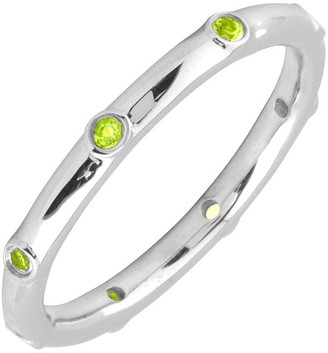 Simply Stacks Sterling Peridot Multi-stone Stackable Ring