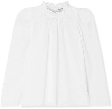 Ulla Johnson - Gracie Broderie Anglaise Cotton Blouse - White