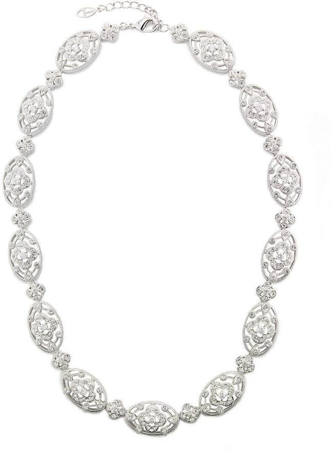Eliot Danori Necklace, Les Fleurs Cubic Zirconia Collar Necklace (1-1/3 ct. t.w.)