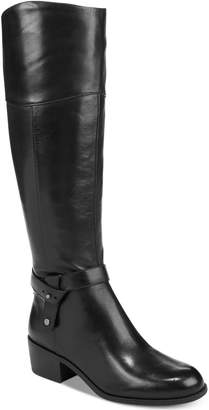 Alfani Women's Berniee Step 'N Flex Wide-Calf Riding Boots, Created for Macy's Women's Shoes