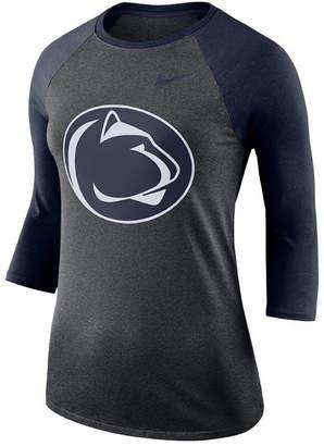 Nike Women's Penn State Nittany Lions Dri-Blend Raglan T-Shirt