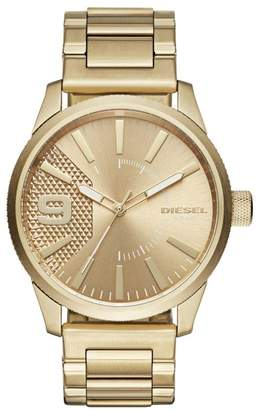 Diesel Analog Goldtone Textured Watch