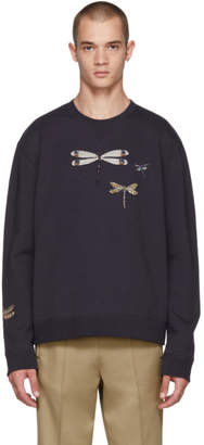 Valentino Navy Dragon Fly Sweatshirt
