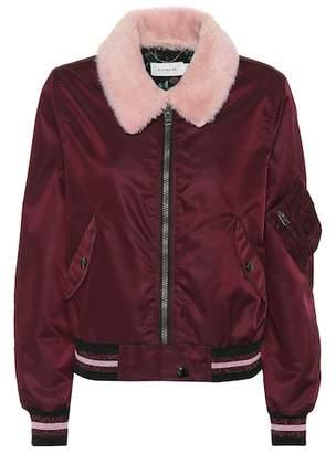 Coach Lamb fur collar bomber jacket