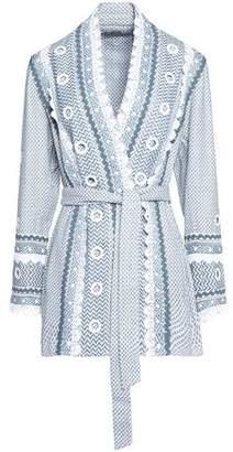 Dodo Bar Or Embellished Houndstooth Cotton Jacket