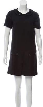 Burberry Wool A-Line Dress