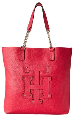 Tommy Hilfiger Patch-Tote w/ Chain $178 thestylecure.com
