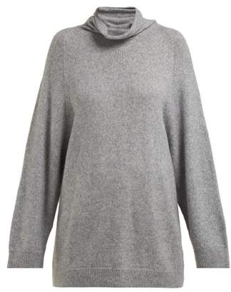 The Row Mandel Cashmere Blend Roll Neck Sweater - Womens - Grey
