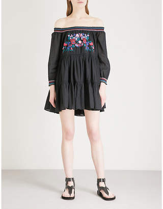 Free People Sunbeams off-the-shoulder woven dress